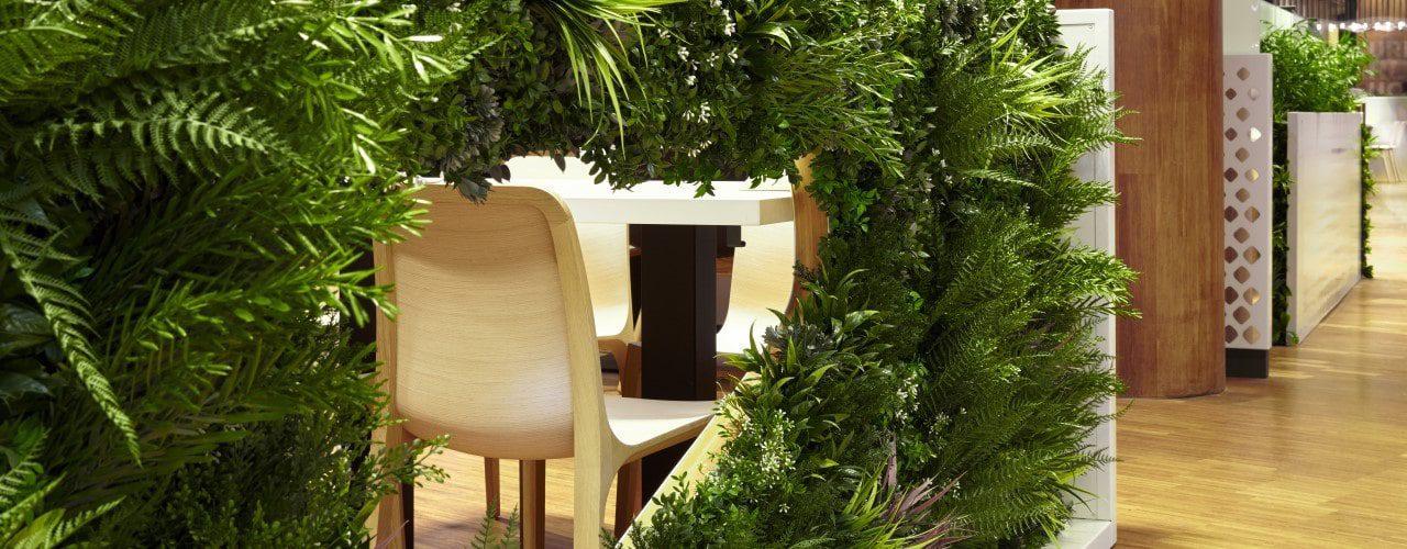Privacy Screening Ideas: Artificial Living Green Vertical Screen Panels