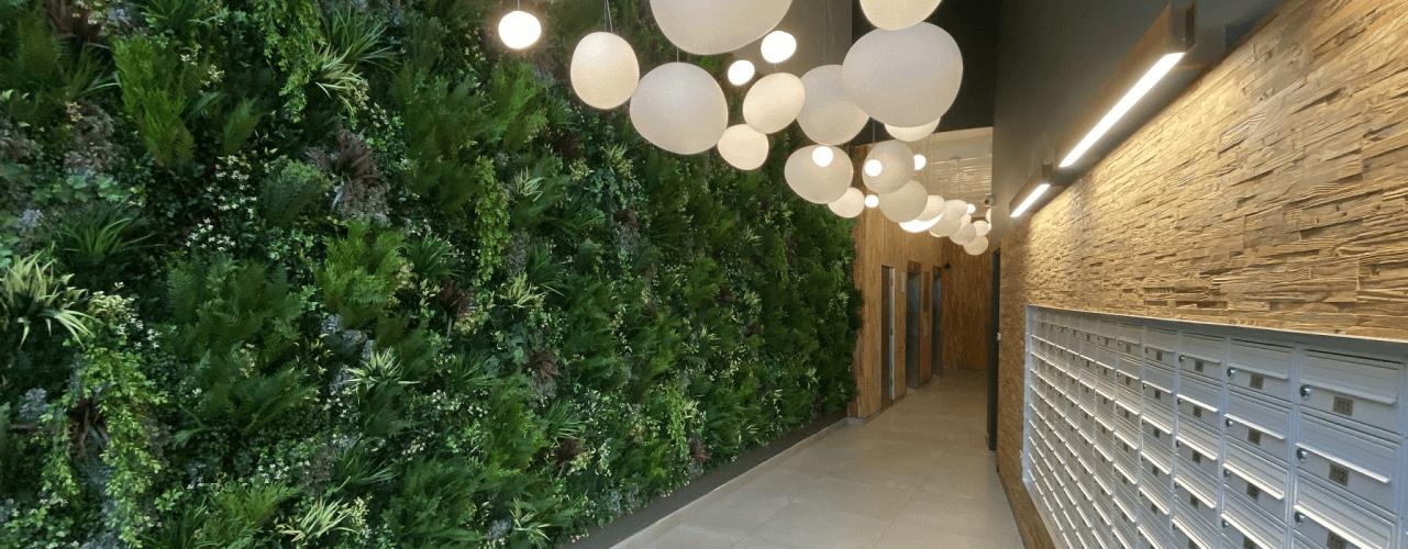 Faux green walls vs real green walls