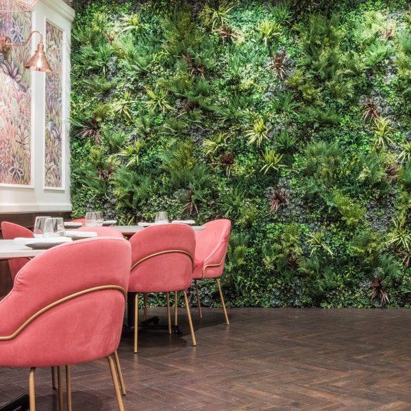 Restaurant Artifical Green Wall