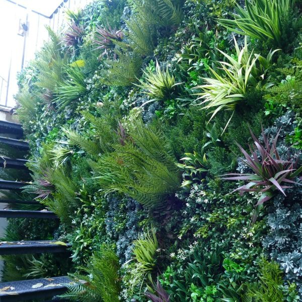 Outdoor Green Wall Staircase