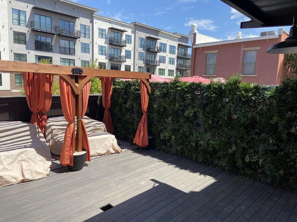 Rooftop Bar Green Wall