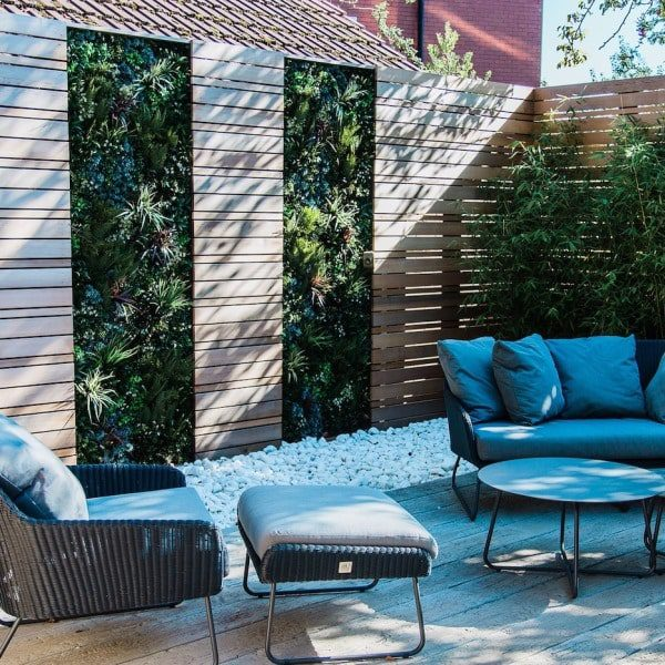 Green Walled Seating Area