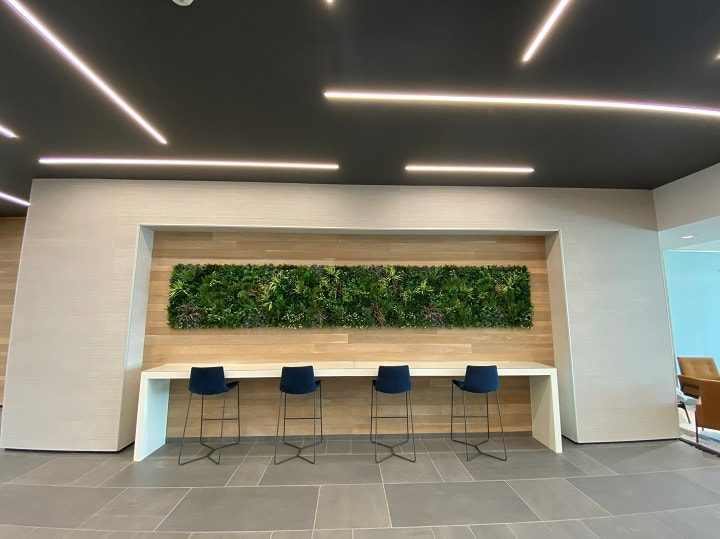 Office Space Green Wall