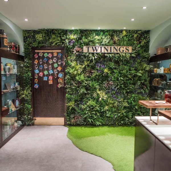 Twinings Green Wall