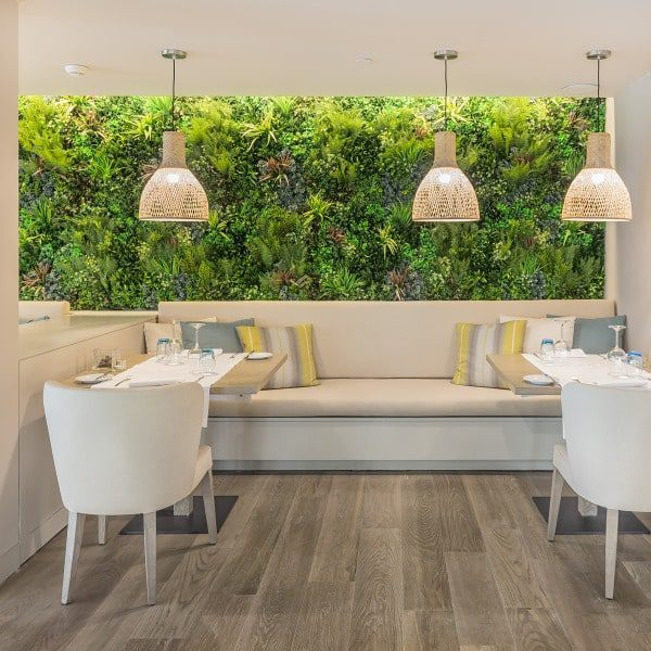 Restaurant Interior Design Green Wall