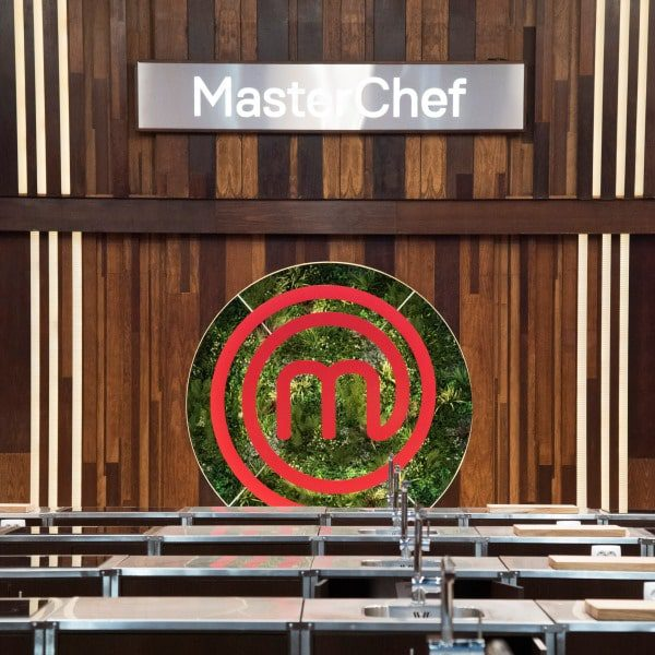 Masterchef Logo Green Wall