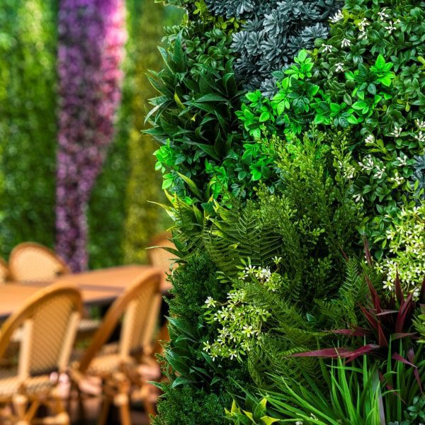 Cafe Privacy Green Wall