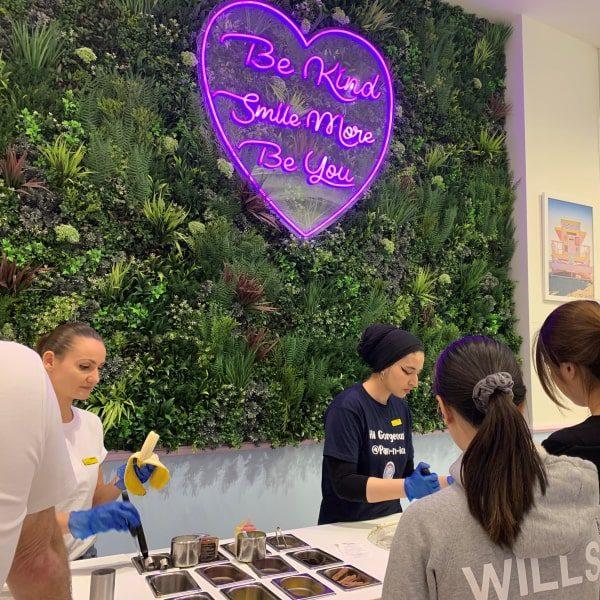 Retail Green Wall for Social Media
