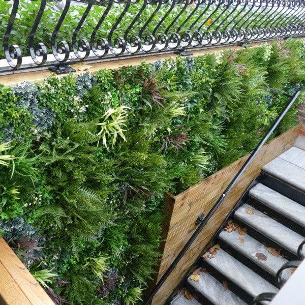 Artificial Green Wall Staircase