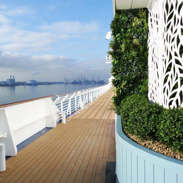 Cruise Ship Green Wall
